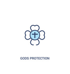 Gods protection concept 2 colored icon simple vector