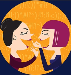 Gossiping Women vector image