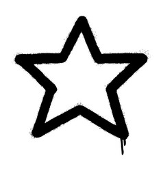 Graffiti spray star icon isolated on white vector