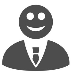 happy manager flat icon vector image