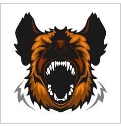 Head laughing hyena vector