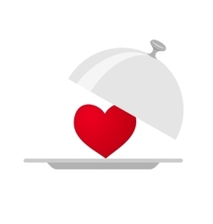 Heart service isolated vector