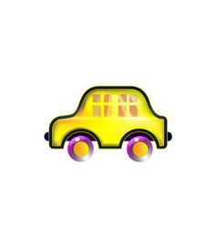 house car yellow toy icon color in style funny vector image