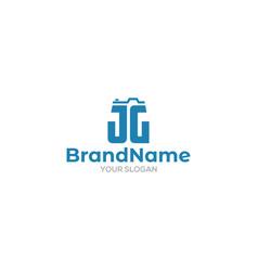 Jg photography logo design vector