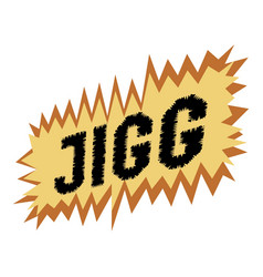 Jigg icon pop art style vector