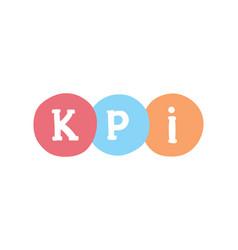 Kpi marketing concept key performance indicator vector