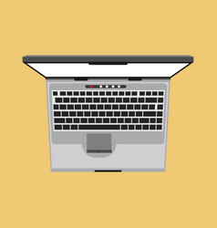 Laptop top view icon business screen blank above vector