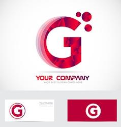 Letter G red logo vector image