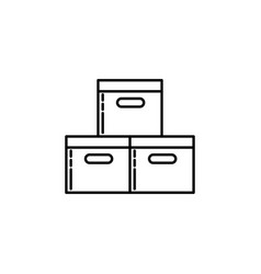 logistics boxes signs and symbols can be used for vector image