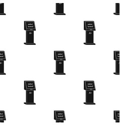 medical terminal terminals single icon in black vector image