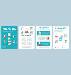 Medicine production industry template layout vector
