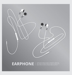 Music earphones vector