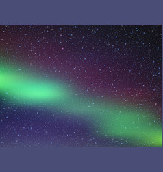 night sky with stars northern lights vector image
