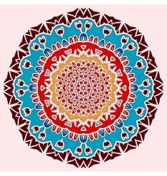 Oriental mandala print Round lase pattern on the vector image