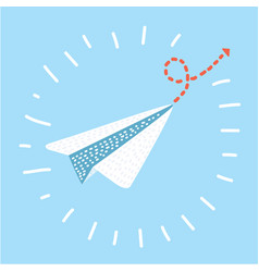 paper plane send icon vector image