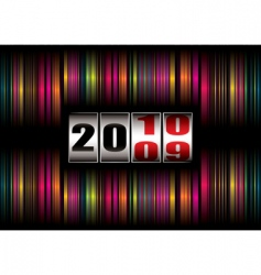 rainbow new year vector image