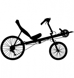 recumbent bicycle vector image