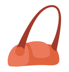 red hand bag icon flat style vector image