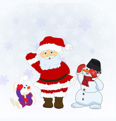 Santa christmas characters vector
