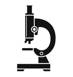 school microscope icon simple style vector image
