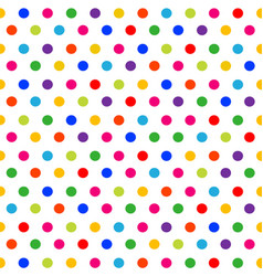seamless pattern colorful polka dots background vector image