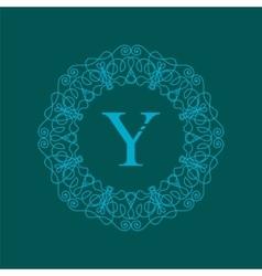 Simple Monogram Y Design vector image