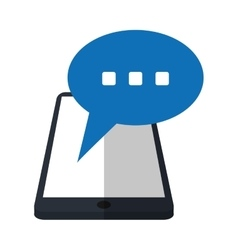 smartphone bubble speech chat communication vector image