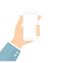 smartphone in hand colorful in flat vector image