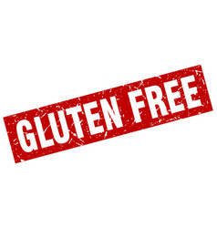 square grunge red gluten free stamp vector image