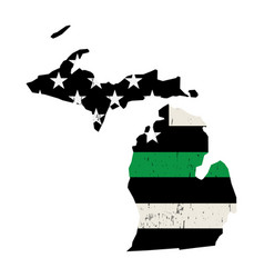 State michigan military support american flag vector