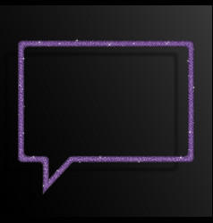 the speech bubble banner purple sequin background vector image