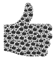 thumb up icon collage vector image