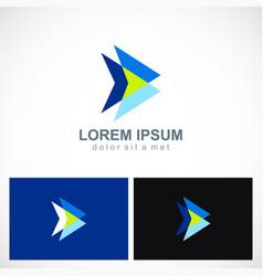 Triangle abstract arrow multiple logo vector