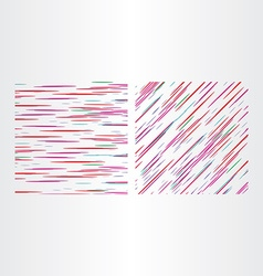 two color line textures vector image