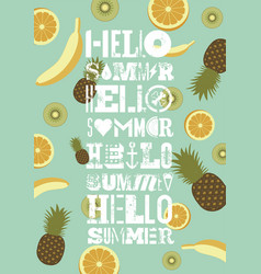 typographic summer party grunge retro poster vector image
