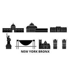 United states new york bronx flat travel skyline vector