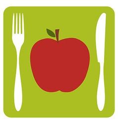 Vegetarian restaurant icon vector