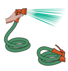 water hose vector image