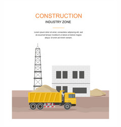 building factory industry zone construction vector image vector image
