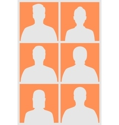 Human silhouettes vector image