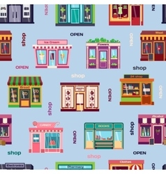 Shop facade pattern vector image