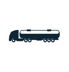 gasoline tanker truck simple flat icon vector image vector image