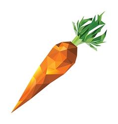 Geometric polygonal carrot vector image vector image
