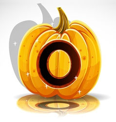 Halloween Pumpkin O vector image vector image