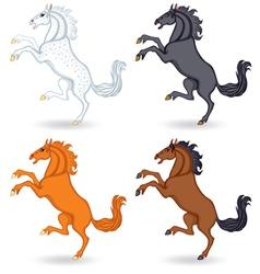 horse set vector image vector image