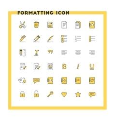 Text formatting flat design icon set document vector