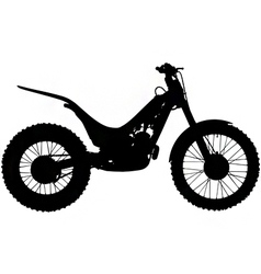 trials motorbike silhouette vector image vector image