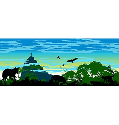 Wild jungle animals in Brazil vector image