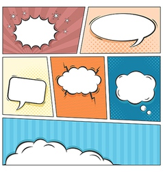 Comic speech bubbles background vector