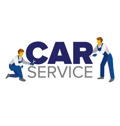 logo template for service or car repair vector image vector image